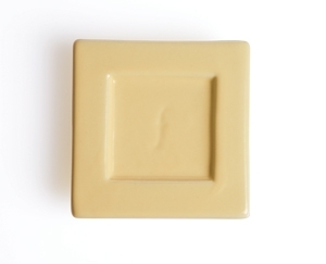 2入陶瓷方型茶托 Tea Tray (奶油黃) Ceramic Tray - Butter Yellow