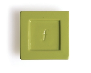 2入陶瓷方型茶托 Tea Tray (草綠) Ceramic Tray - Celery Green