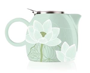 普格陶瓷茶壺 - 蓮花 Lotus