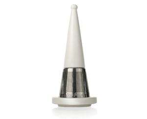 露思錐型茶葉濾器-白瓷 Luci Loose Tea Infuser White